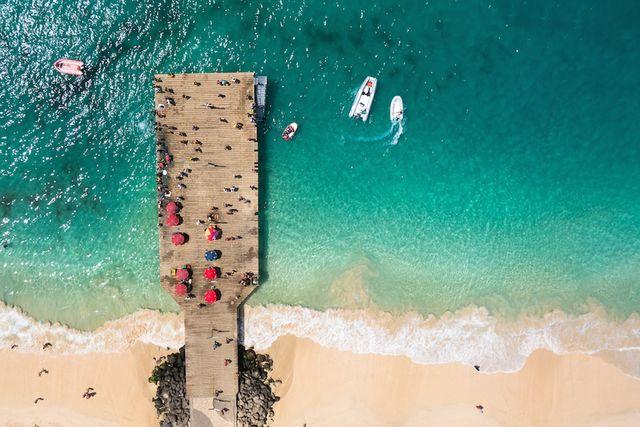 herfst kaapverdie; strand